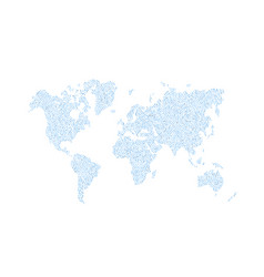 world map composed digits vector image
