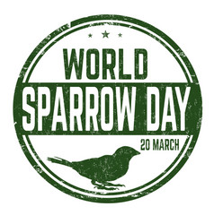 world sparrow day sign or stamp vector image