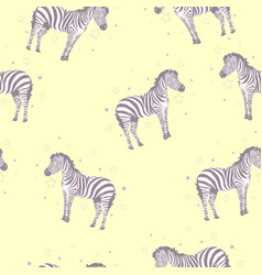 zebra pattern kid safari print vector image