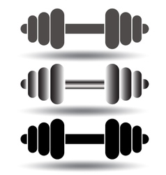 Barbell icon set vector image vector image