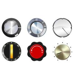 knobs set 1 vector image