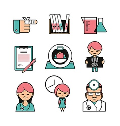Medical color icons vector image vector image