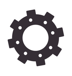 monochrome silhouette with gear of wheels vector image