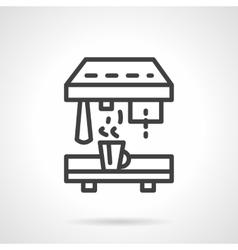 Professional coffee machine black line icon vector image vector image