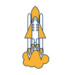 rocket space isolated icon vector image