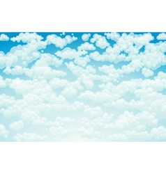 clouds Cartoon clouds on blue background for vector image