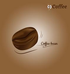 coffee bean icon design vector image