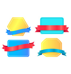 colorful promo emblems shopping badges collection vector image
