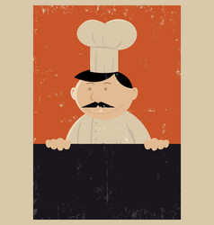 Grunge chef menu poster vector