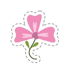 pink flower decoration image vector image vector image