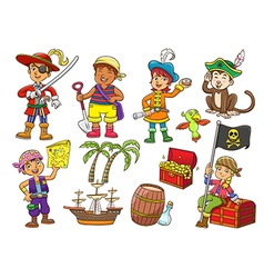 pirate child cartoon vector image vector image