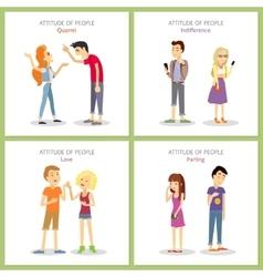 Attitude Quarrel Indifference Love Parting vector image