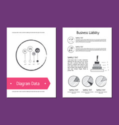diagram data and business liability vector image vector image
