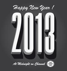 Happy new year 2013 retro vector image