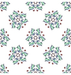 Royal Carp fish style seamless pattern vector image