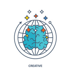 about creative thinking creation an innovation vector image vector image