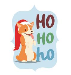 christmas 2018 dog card cute cartoon puppy vector image vector image