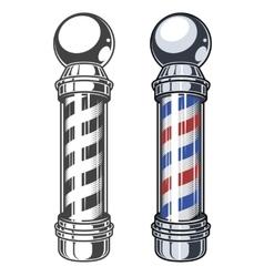 Classic Barber shop Pole vector image