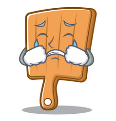 crying kitchen board character cartoon vector image