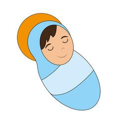 cute baby jesus cartoon vector image