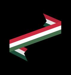 Hungary flag isolated hungarian ribbon banner vector