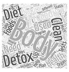 Natural body detox word cloud concept vector