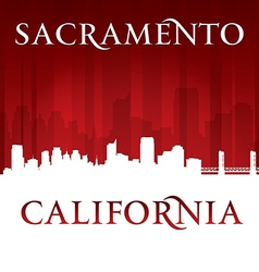 Sacramento California city skyline silhouette vector image vector image