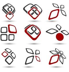 Set of Company symbols vector image