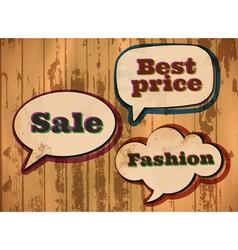 vintage sale speech bubbles vector image vector image