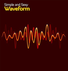 wave form vector image vector image