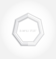 3d abstract background and heptagon icon design vector