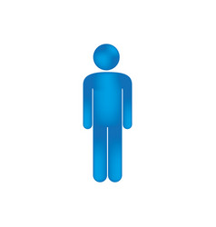 3d colorful pictogram man design vector