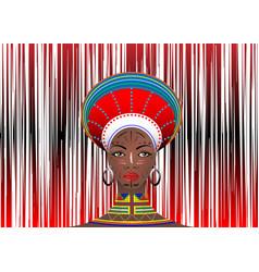 African tribe clothes female zulu aboriginal vector