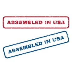 Assembled In USA Rubber Stamps vector