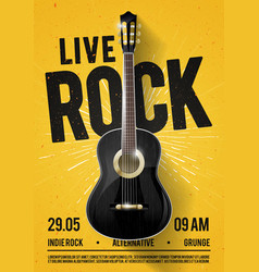 Beautiful live classic rock music poster template vector