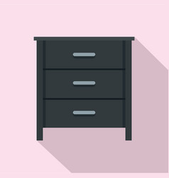 black nightstand icon flat style vector image