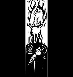 Celtic Cernunnos vector