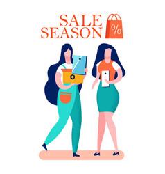 Clearance sale season cartoon vector