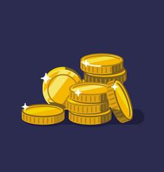 coins golden money stack vector image