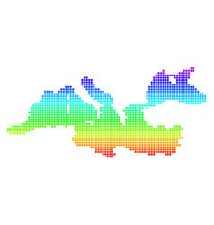 Colored pixel mediterranean sea map vector