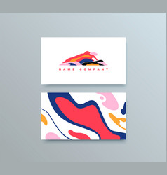 colorful mountain logo template business vector image