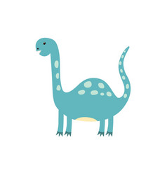 cute dinosaur in cartoon style dino isolated vector image