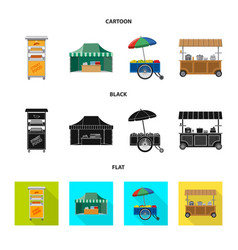 design of market and exterior icon vector image