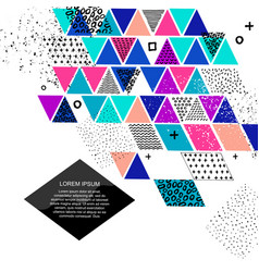 different colored triangles vector image
