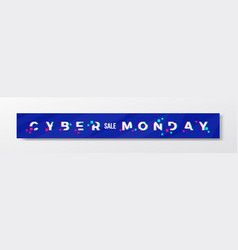 digital blue cyber monday stylish banner or header vector image