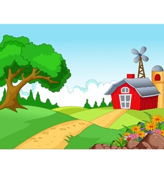 Farm background for you design vector image