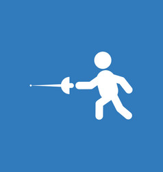 Fencing player fencer swordsman athletes vector