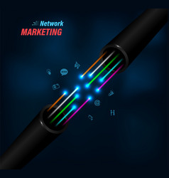 fiber optic connection vector image