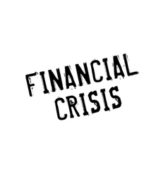 Financial Crisis rubber stamp vector