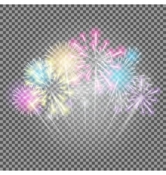 Fireworks Salute on a Transparent Background vector
